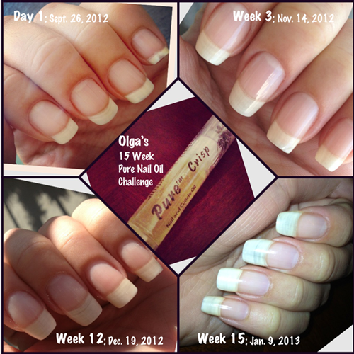 Olga S Results Nail Oil Olgas 15 Week Challenge With Pure Cuticle And